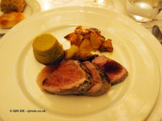 Cinta senese pork medallion, Chianti Classico 2014 dinner