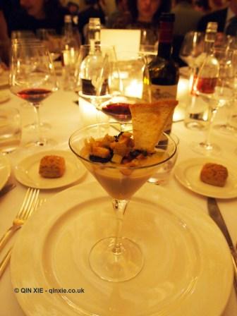 Deconstructed ribollita, Chianti Classico 2014 dinner