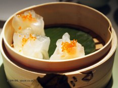 Lobster dumplings with tobiko caviar, Chinese New Year at Yauatcha, London