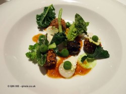 Oxtail, snails, romanesco, Alyn Williams at The Westbury