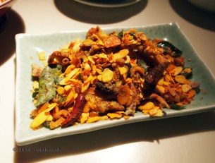 Spicy soft shell crab, Chinese New Year at Yauatcha, London