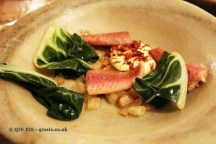 """Willy's"" Mackerel, Swiss chard, bonito butter, The Dairy, Clapham"
