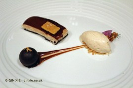 Caramel and chocolate - caramel pudding with salted chocolate, caramel ice cream and chocolate truffle, The Yeatman, Porto