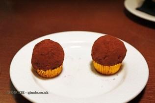 Chocolate truffles, Casa Montaña, Valencia