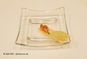 Scallop ceviche and fish roe, The Yeatman, Porto