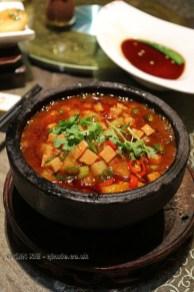Spicy tofu, Vegan Restaurant, Chengdu