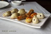 Assorted dumplings, Dumplings feast at De Fa Chang, Xian, China