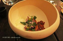 Salad of wild plants from the Andes, Boragó, Santiago, Chile