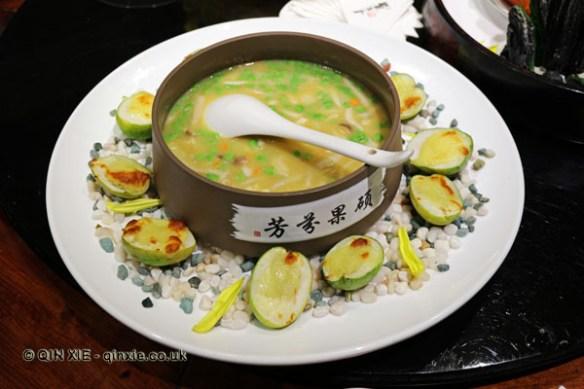 Bamboo sour soup and fish lip, Kuan Alley No 3, Chengdu, China