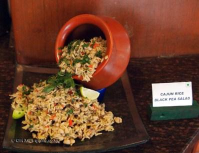 Cajun rice and black pea salad at APEDA basmati rice conference