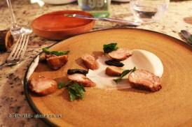 Lengua de Cordero / Pure de Coliflor / Ciruelas (Lamb's tongue / Cauliflower purée / Plums), Restaurante 99, Santiago