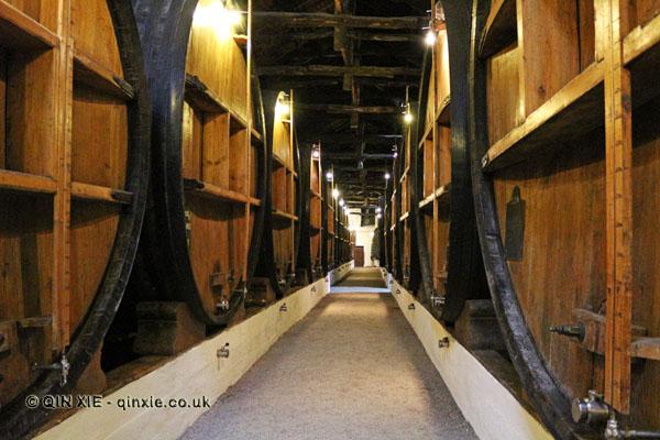 Barrel corridor, Taylor's, Oporto
