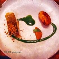 Line caught Cornish cod, Jerusalem artichoke, sorrel and kabosu citrus, with Yeni Raki at The Clove Club