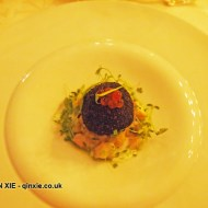 Poached Skrei tongues and a croquette of salted Skrei, served on braised celeriac and parsley with horseradish buttermilk, Skrei season launch 2015