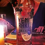 Yeni Raki bottle, with Yeni Raki at The Clove Club