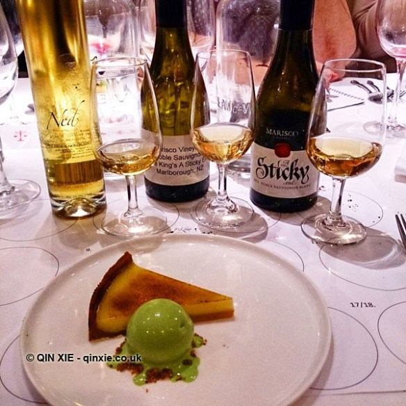 Marisco sweet wines with lemon tart and basil ice cream