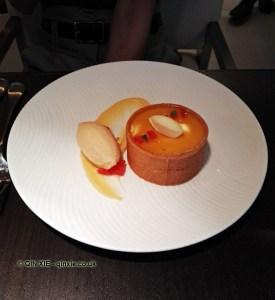 Citrus tart at Yauatcha City, London