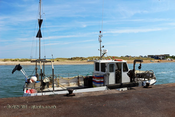 Fishing boat in Mudeford harbour, Dorset