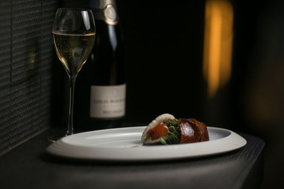 HKK's Cherry wood duck with Louis Roederer Champagne