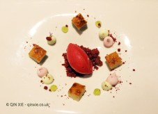 Cheese, red fruits and mint, Azurmendi