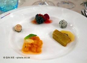 Salad of fruit, James Beard American Restaurant, Milan