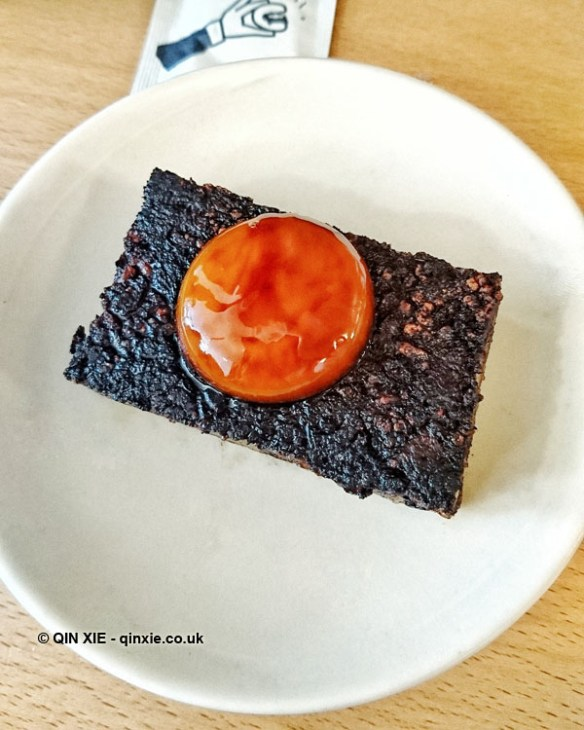 Pig's blood cake, Bao, London