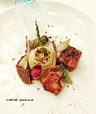 Suckling pig at Celeste Restaurant, The Lanesborough, Knightsbridge