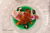Red mullet with pearls of its head, El Poblet, Valencia