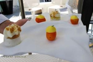 Rice liquor quinine and emulsion of yuzu and Chinese orange, Quique Dacosta, Denia
