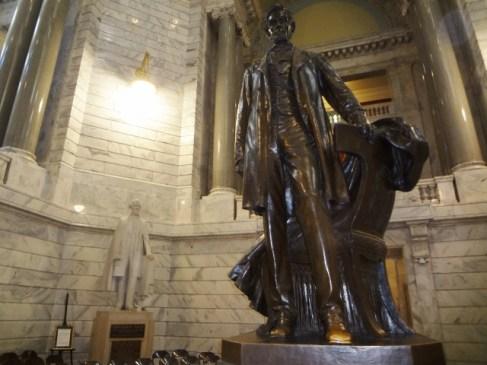 Abe with Jefferson Davis in background