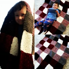 Mom's blanket I knotted