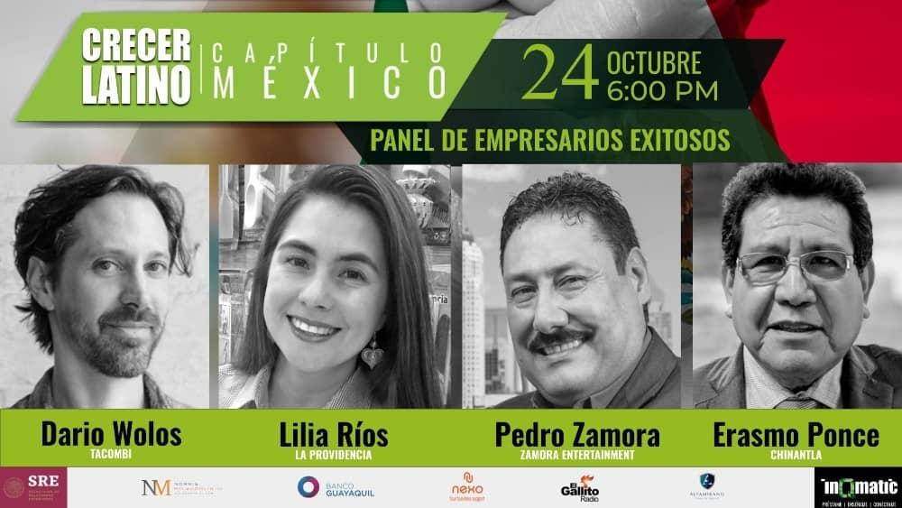 Crecer Latino Mexico. Octubre 24. 6pm