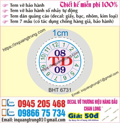 In tem bảo hành tại Lào Cai