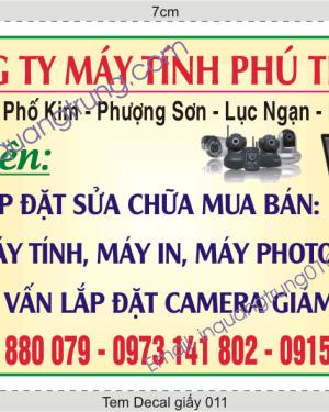 In tem decal giấy tại Hà Nội