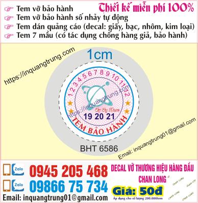 In tem bảo hành tại Quảng Bình