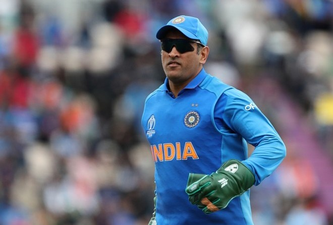Dhoni was spotted with regimental dagger insignia of the Indian Para Special Forces on his wicket-keeping gloves