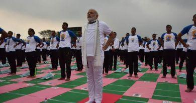 Narendra Modi will lead a Yoga class in Ranchi