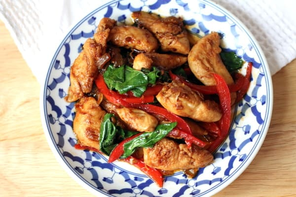 Chicken with thai holy basil inquiring chef chicken with thai holy basil forumfinder Image collections