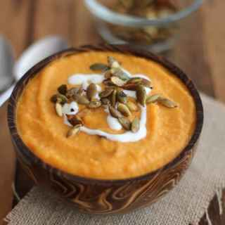 Curried Carrot Soup with Toasted Pepitas