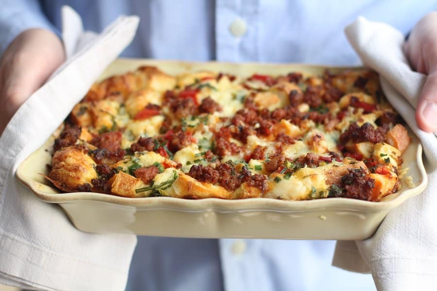 Spicy Breakfast Strata