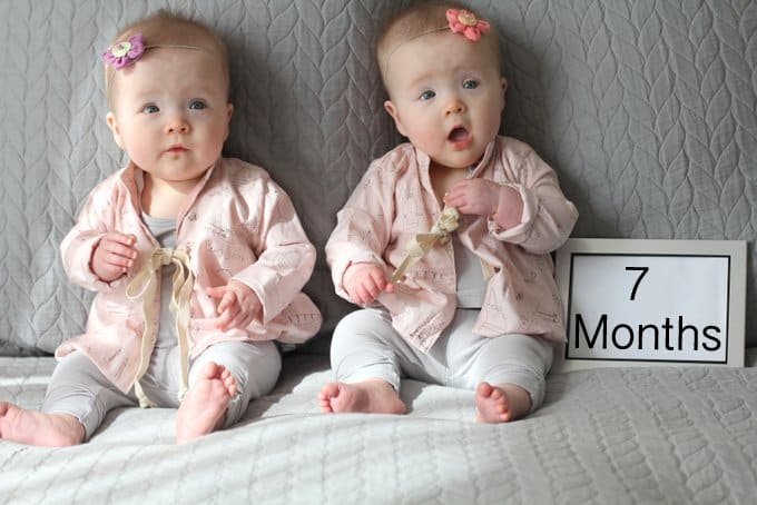 Molly and Clara – 7 Months