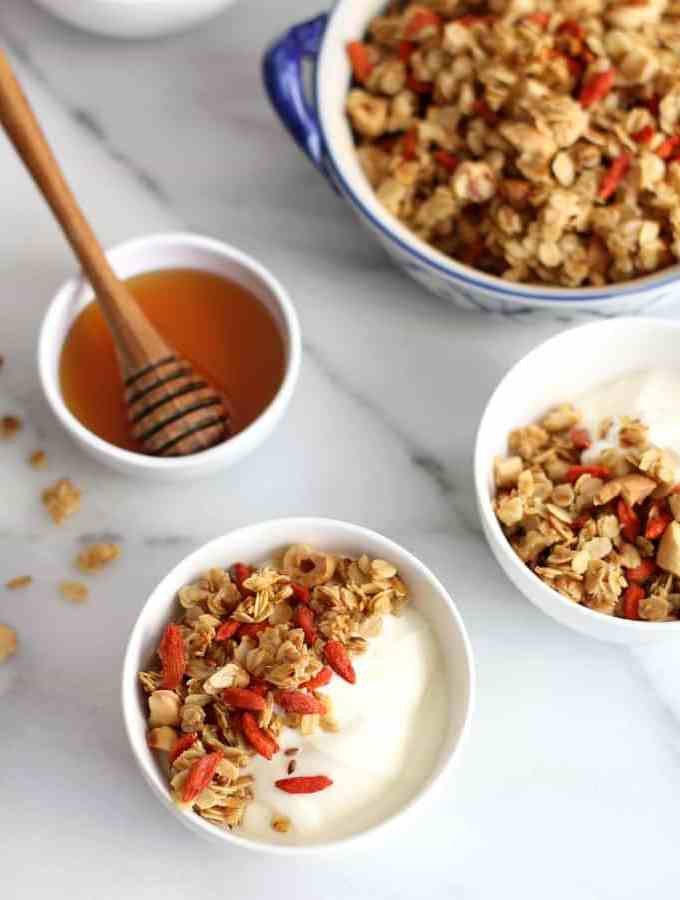 Stovetop Granola with Goji Berries