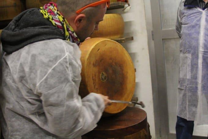 Testing Parmigiano Reggiano D.O.P.