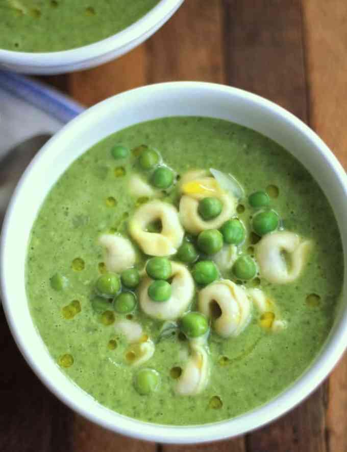 Pesto Sweet Pea Soup