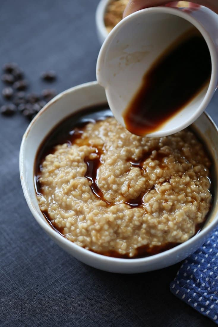 Oatmeal Latte with Steel Cut Oats, Coffee and Brown Sugar