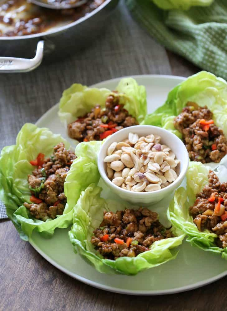 Asian Chicken Lettuce Cups via @InquiringChef
