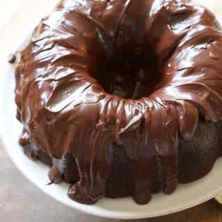 The Best Chocolate Bundt Cake with Chocolate Glaze