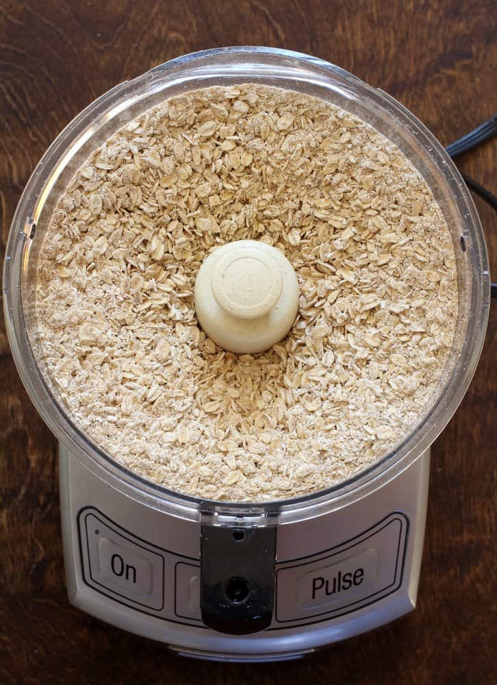 Homemade Instant Oatmeal prep in cuisnart
