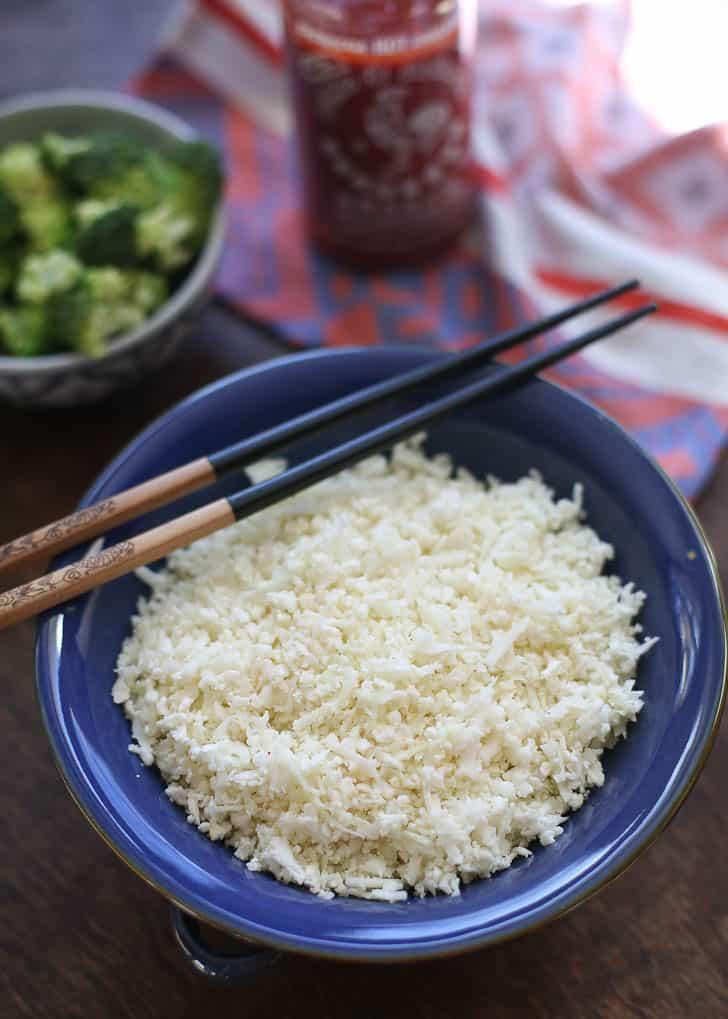 fluffy cauliflower rice