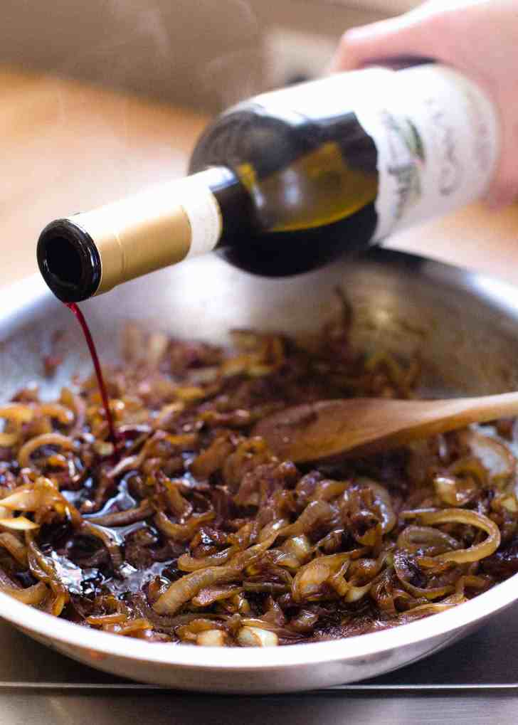Red Wine Caramelized Onions